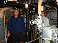 Darrell 'Smitty' Smith touring the Jeremiah O'Brien 'Libery Ship'